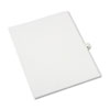 Avery-Style Legal Exhibit Side Tab Divider, Title: 40, Letter, White, 25/pack
