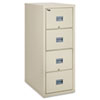 Patriot Insulated Four-Drawer Fire File, 20-3/4w x 31-5/8d x 52-3/4h, Parchment