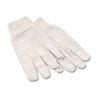 8 oz Cotton Canvas Gloves, Large, 12 Pairs