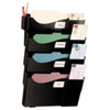 Wall Filing System, Four Pockets, 23 1/4 x 15 3/4 x 3 7/8, Plastic, Black