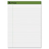 Earthwise Recycled Writing Pad, 8 1/2 x 11 3/4, White, 40 Sheets, 4/Pack