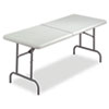 Iceberg IndestrucTables Too Bifold Resin Folding Table, 60w x 30d x 29h, Platinum ICE65453