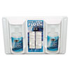 Twin Bottle Eye Flush Station W/two 16oz Bottles, 3.75d X 13.5h X 16.5w