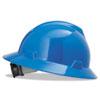 V-Gard Full-Brim Hard Hats, Ratchet Suspension, Size 6 1/2 - 8, Blue