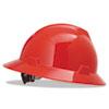 V-Gard Full-Brim Hard Hats, Ratchet Suspension, Size 6 1/2 - 8, Red