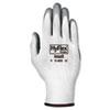 Hyflex Foam Gloves, White/gray, Size 8, 12 Pairs