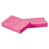 SMALL CELLULOSE SPONGE, 3 3/5 X 6 1/2, 9/10 THICK, PINK, 48/CARTON