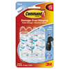 Clear Hooks and Strips, Plastic, Mini, 6 Hooks with 8 Adhesive Strips per Pack