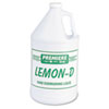 Lemon-D Dishwashing Liquid, Lemon, 1gal, Bottle, 4/carton