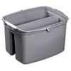 Double Utility Pail, 17qt, Gray