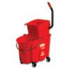 Wavebrake Side-Press Wringer/bucket Combo, 8.75 Gal, Red