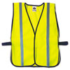 Glowear 8020hl Safety Vest, Polyester Mesh, Hook Closure, Lime, One Size Fit All
