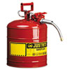 Accuflow Safety Can, Type Ii, 5gal, Red, 5/8 Hose