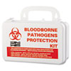 Small Industrial Bloodborne Pathogen Kit, Plastic Case, 4.5h X 7.5w X 2.75d