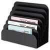 Cashier Pad Rack, Steel, 6 Pocket, Black