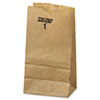 #1 PAPER GROCERY BAG, 30LB KRAFT, STANDARD 3 1/2 X 2 3/8 X 6 7/8, 500 BAGS