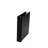 """Universal Round Ring Mini (Holds 8.5"""" x 5.5"""" Paper) Reference Binder With Label Holder, 1"""" Capacity, Black UNV30404-BULK"""