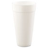Dart Drink Foam Cups, Hot/Cold, 24oz, White, 500/Carton 24J24