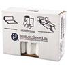 High-Density Can Liner, 38 X 58, 60gal, 19mic, Clear, 25/roll, 6 Rolls/carton
