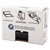 High-Density Can Liner, 40 X 46, 45gal, 19mic, Black, 25/roll, 6 Rolls/carton