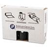 Low-Density Can Liner, 40 X 46, 45gal, 1.4mil, Black, 25/roll, 5 Rolls/carton