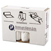 """HIGH-DENSITY INTERLEAVED COMMERCIAL CAN LINERS, 60 GAL, 14 MICRONS, 38"""" X 60"""", CLEAR, 200/CARTON"""