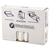 High-Density Can Liner, 33 x 39, 33gal, 10mic, Clear, 25/Roll, 20 Rolls/Carton