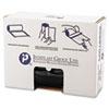 High-Density Can Liner, 43 X 46, 60gal, 19mic, Black, 25/roll, 6 Rolls/carton