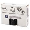 High-Density Can Liner, 38 X 58, 60gal, 19mic, Black, 25/roll, 6 Rolls/carton