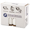 Low-Density Can Liner, 30 X 36, 30gal, .7mil, White, 25/roll, 8 Rolls/carton