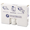 """HIGH-DENSITY INTERLEAVED COMMERCIAL CAN LINERS, 45 GAL, 12 MICRONS, 40"""" X 48"""", CLEAR, 250/CARTON"""