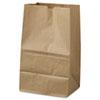 #20 Squat Paper Grocery Bag, 40lb Kraft, Std 8 1/4 X 5 15/16 X 13 3/8, 500 Bags