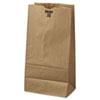 #20 Paper Grocery Bag, 20lb Kraft, Standard 8 1/4 X 5 5/16 X 16 1/8, 500 Bags