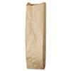 Quart Paper Liquor Bag, 35lb Kraft, Standard 4 1/4 X 2 1/2 X 16, 500 Bags