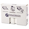 """HIGH-DENSITY INTERLEAVED COMMERCIAL CAN LINERS, 33 GAL, 16 MICRONS, 33"""" X 40"""", CLEAR, 250/CARTON"""