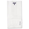 #6 Paper Grocery Bag, 35lb White, Standard 6 X 3 5/8 X 11 1/16, 500 Bags