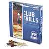 "Club Cellophane-Frill Wood Picks, 4"", Assorted, 10000/Carton"