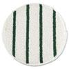 Low Profile Scrub-Strip Carpet Bonnet, 19 Diameter, White/green, 5/carton