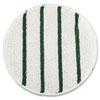 LOW PROFILE SCRUB-STRIP CARPET BONNET, 21 DIAMETER, WHITE/GREEN