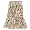 "Economy Cut-End Cotton Wet Mop Head, 16oz, 1"" Band, White, 12/carton"