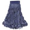 Swinger Loop Wet Mop Head, X-Large, Cotton/synthetic, Blue, 6/carton