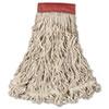 Swinger Loop Wet Mop Head, Large, Cotton/synthetic, White, 6/carton