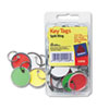 Card Stock Metal Rim Key Tags, 1 1/4 Dia, Assorted Colors, 50/pack