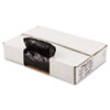 Perforated Coreless Roll Can Liner, 1.2 Mil, 33x39, Blk, 10 Bag/RL, 10 RL/CT