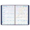 Monthly planner with coastline theme, ruled daily blocks and vinyl storage pocket.