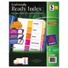 Ready Index Customizable Table of Contents, Asst Dividers, 5-Tab, Ltr, 3 Sets