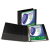 """Clean Touch Locking Round Ring View Binder, Antimicrobial, 2"""" Cap, Black"""