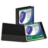 """Clean Touch Locking Round Ring View Binder, Antimicrobial, 1"""" Cap, Black"""