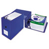 """Clean Touch Locking D-Ring Reference Binder, Antimicrobial, 6"""" Cap, Blue"""