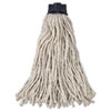 Replacement Mop Head For Mop/handle Combo, Cotton, White, 12/carton